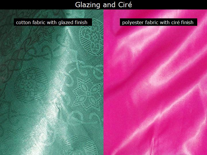 iTextiles - Classification: Glazing and Ciré